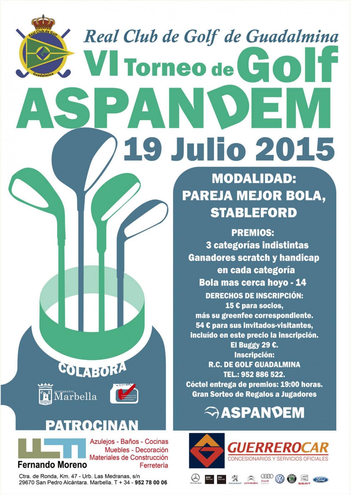 El Ayuntamiento Respalda El Vi Torneo De Golf De Aspandem Que Se  # Muebles Julio San Fernando