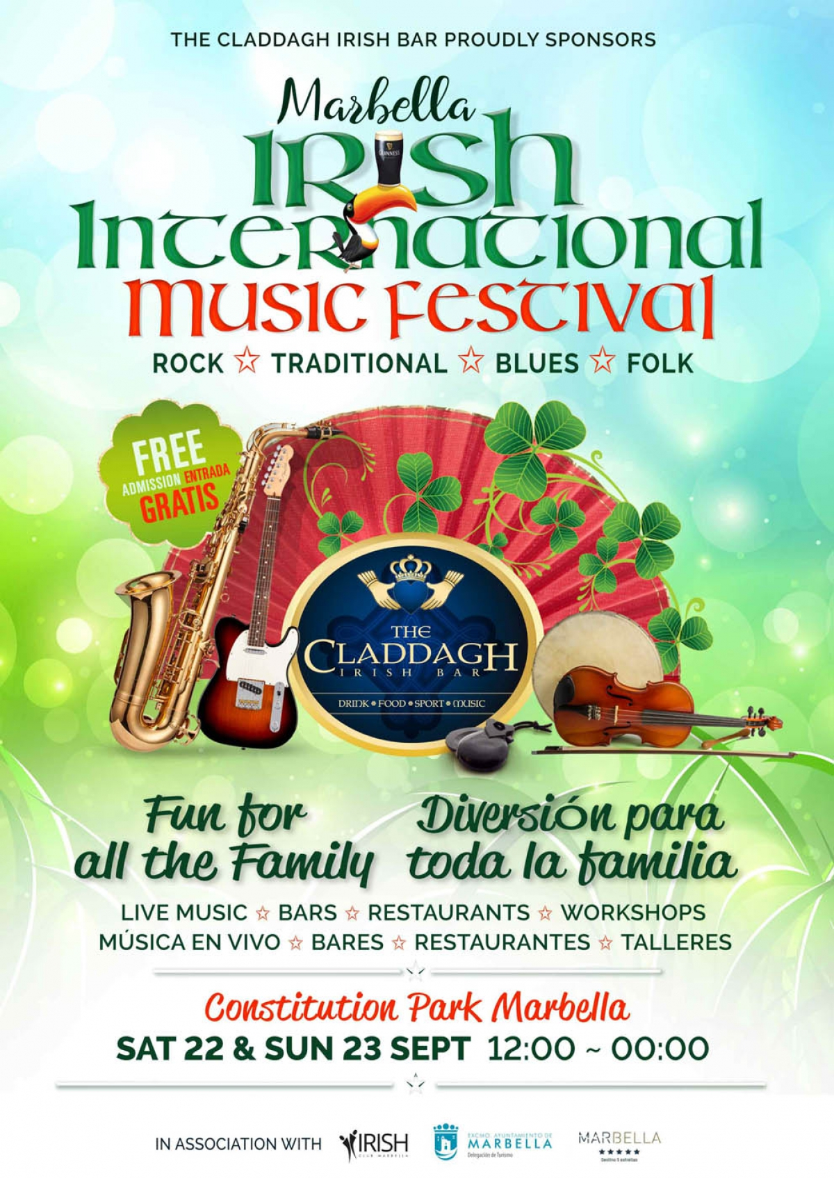 El Parque de la Constitución acoge este sábado y domingo el Irish International Music Festival