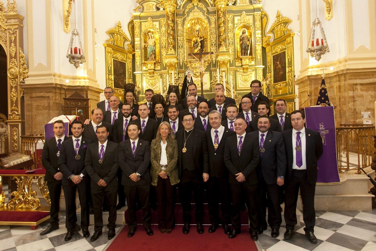 la alcaldesa asiste a la misa y el pregn de semana santa de la hermandad del nazareno