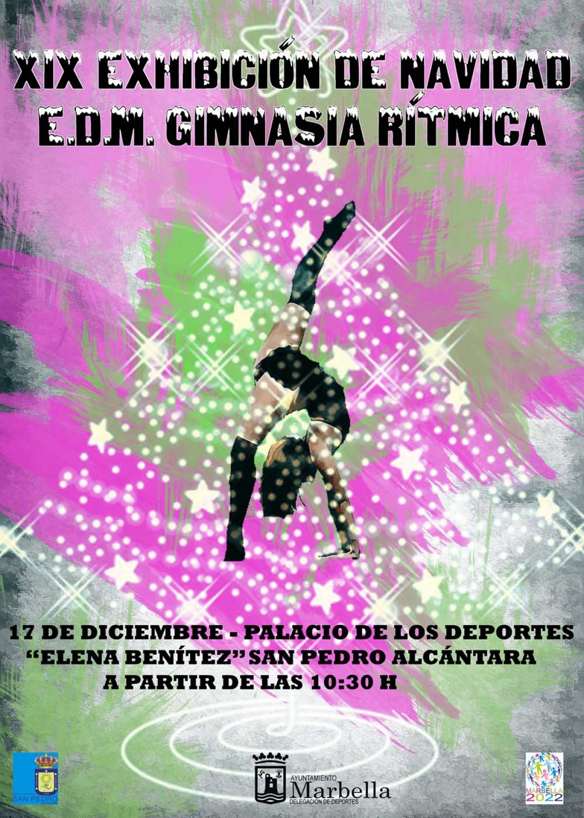El Palacio de Deportes Elena Benítez de San Pedro Alcántara acoge este sábado la XIX Exhibición de Navidad de Gimnasia Rítmica