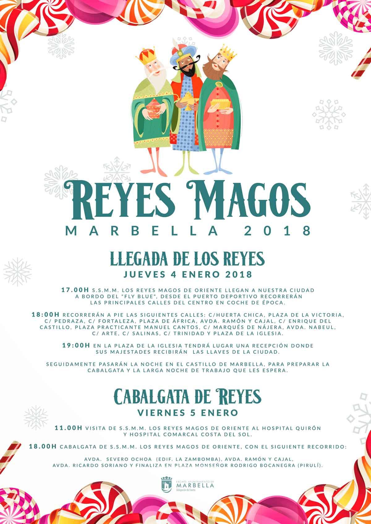 Las Cabalgatas de SSMM Los Reyes Magos de Oriente repartirán 15.000 kilos de caramelos entre Marbella, San Pedro Alcántara, Nueva Andalucía y Las Chapas