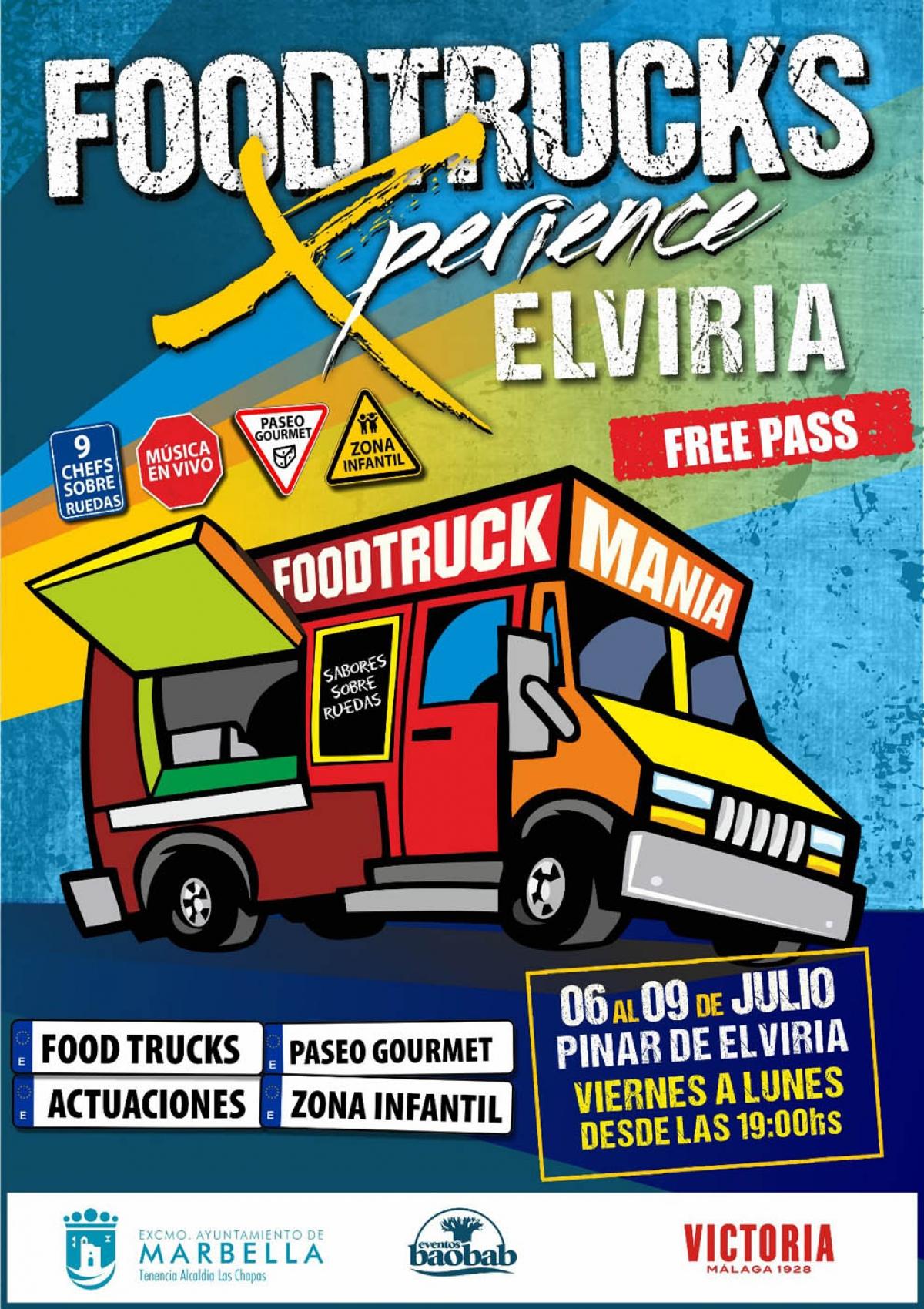 Las Chapas acogerá del 6 al 9 de julio el evento gastronómico 'Foodtrucks Xperience Elviria'