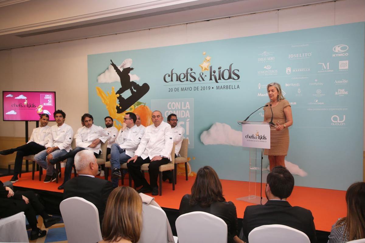 Marbella acogerá el 20 de mayo la segunda edición del evento solidario Chefs&Kids, que reunirá a 27 cocineros con estrellas Michelín a beneficio de la Fundación Aladina