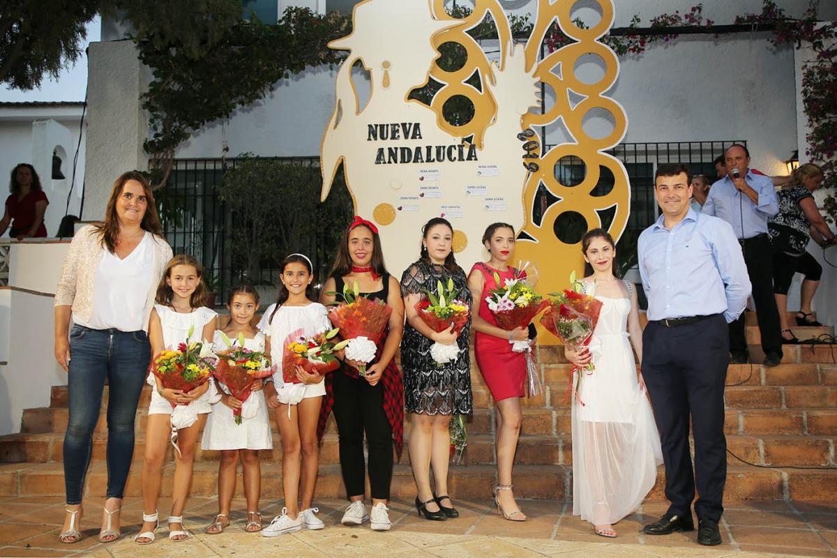 Martina Galbeño y Paloma Pereira, Reinas Infantil y Juvenil de la Feria y Fiestas de Nueva Andalucía 2019
