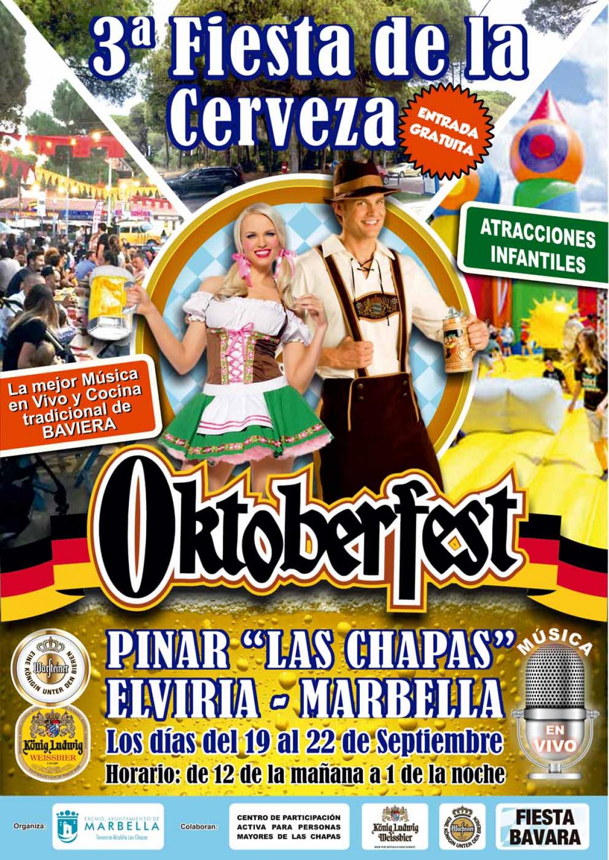 Las Chapas celebrará su tercera Fiesta de la Cerveza 'Oktoberfest' del 19 al 22 de septiembre