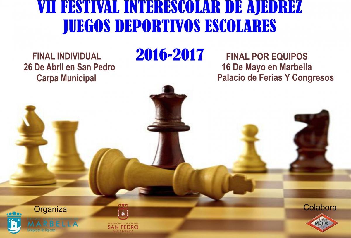 San Pedro Alcántara acoge mañana la fase final individual del VII Festival Interescolar de Ajedrez