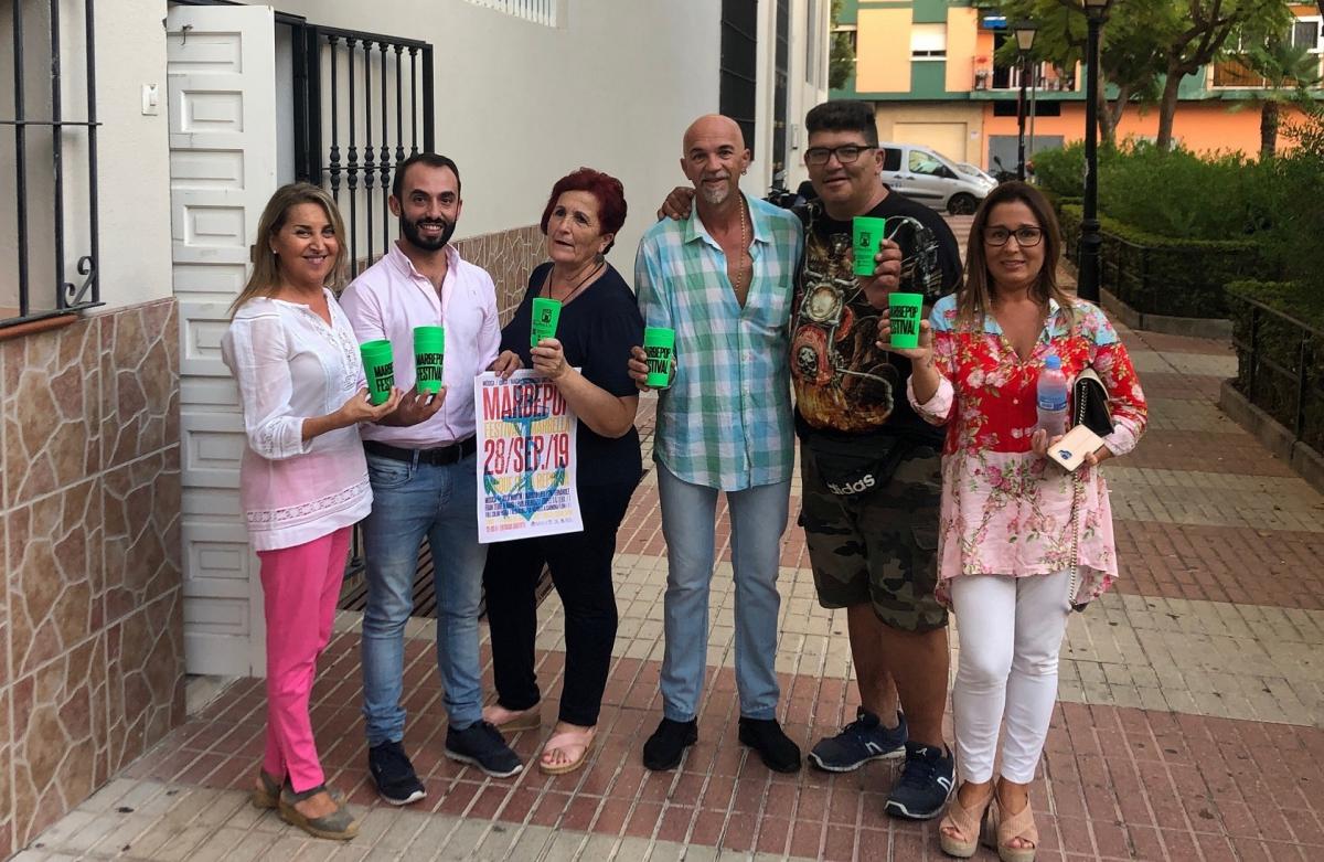 El Festival Marbepop destinará los beneficios recaudados con la venta de los 'ecovasos' a la asociación Gacar