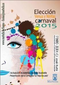 Este sábado se celebrará la Elección de Venus y Ninfas del Carnaval 2015