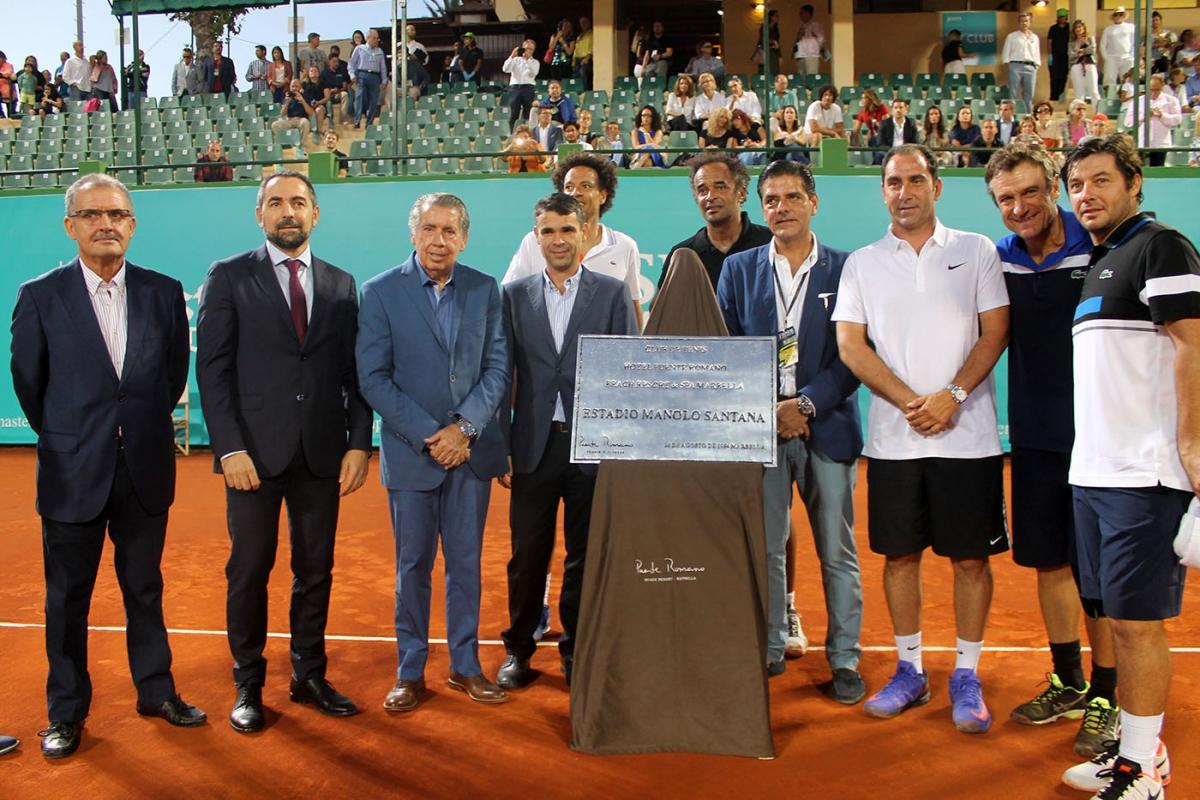 El alcalde asiste a la final de la Senior Masters Cup
