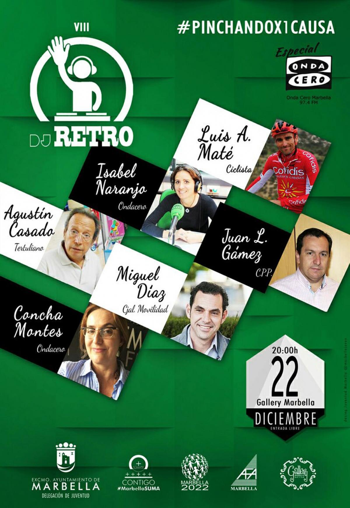 La octava edición de 'DJ Retro. Pinchando por una Causa' destinará los fondos que se recauden a la asociación AFA Marbella