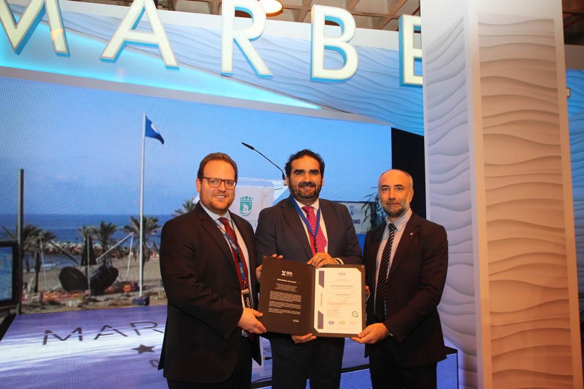 El Puerto Deportivo y seis playas de Marbella reciben en FITUR los diplomas 'Q de Calidad'