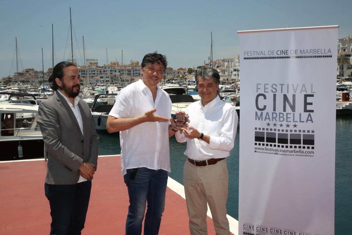El actor Carlos Bardem, premiado en el I Festival de Cine de Marbella