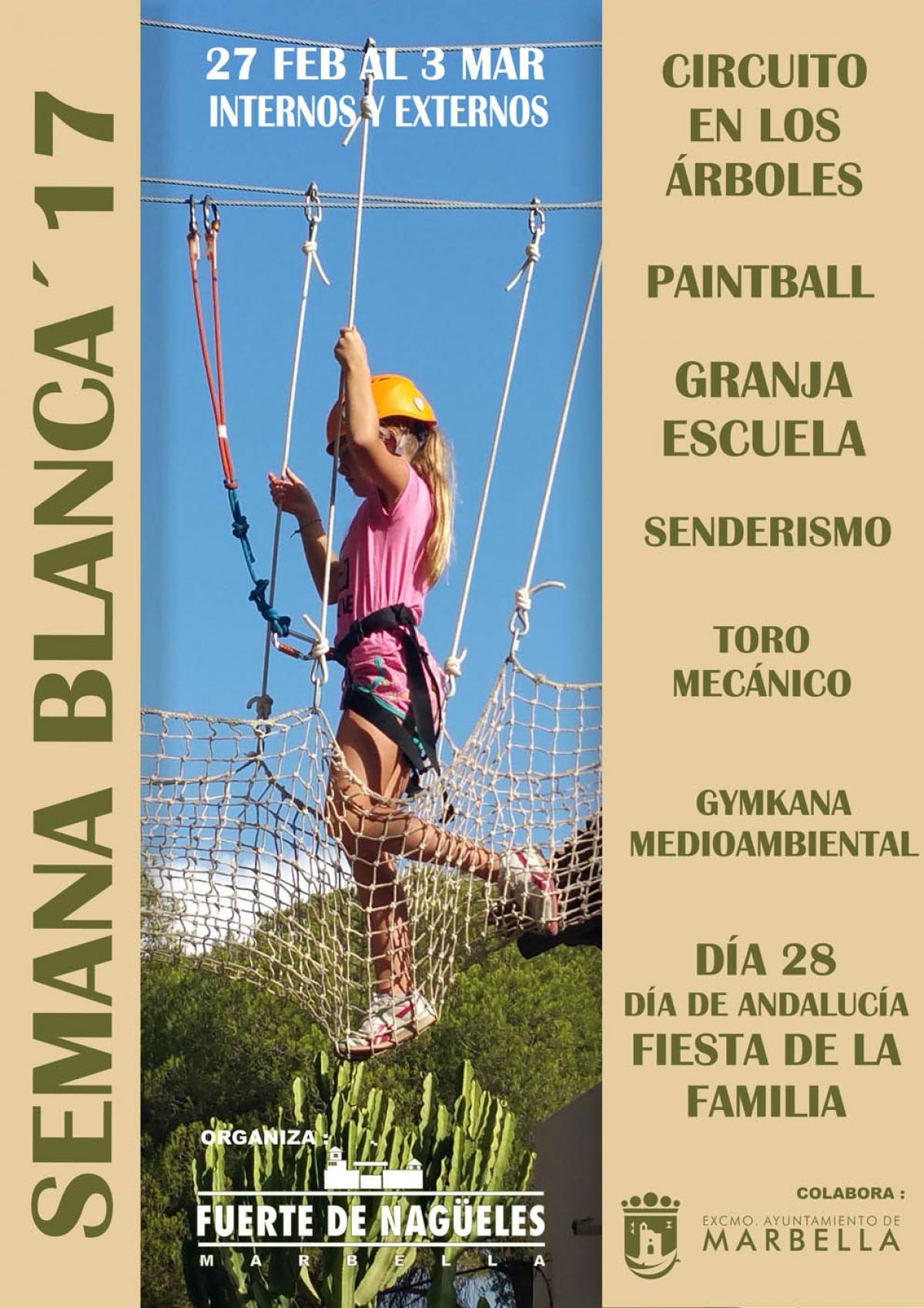 El Campamento de Semana Blanca del Fuerte Nagüeles tendrá lugar del 27 de febrero al 3 de marzo y el plazo de inscripción comienza mañana