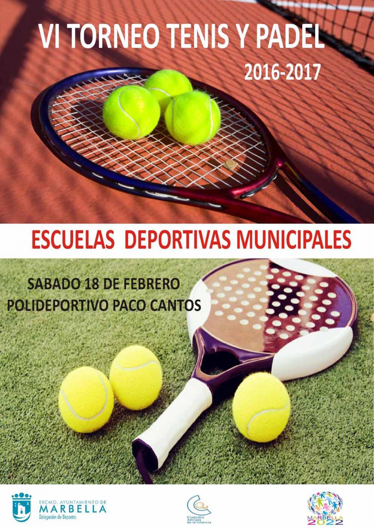 Este sábado se celebra en el Polideportivo Paco Cantos el VI Torneo de Tenis y Pádel de las Escuelas Deportivas Municipales