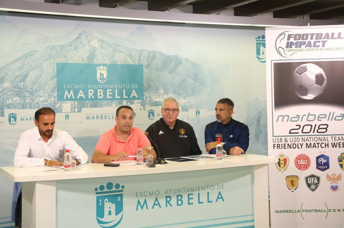 Un torneo congregará en Marbella a siete selecciones de fútbol sub 18 y 20 durante una semana