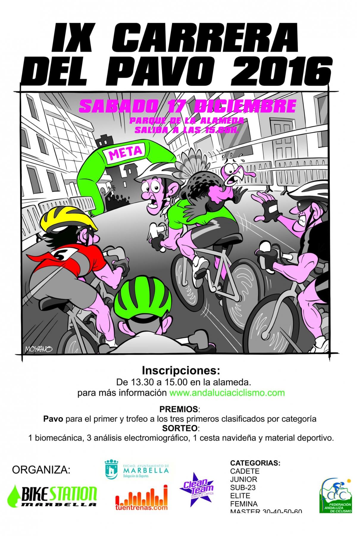 La IX Carrera del Pavo se celebrará el día 17 de diciembre y contará como novedad con un Taller Infantil de Ciclismo