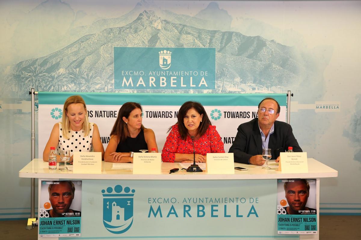 El activista medioambiental Johan Ernst Nilson buscará en Marbella los días 14 y 15 de octubre concienciar sobre el cambio climático