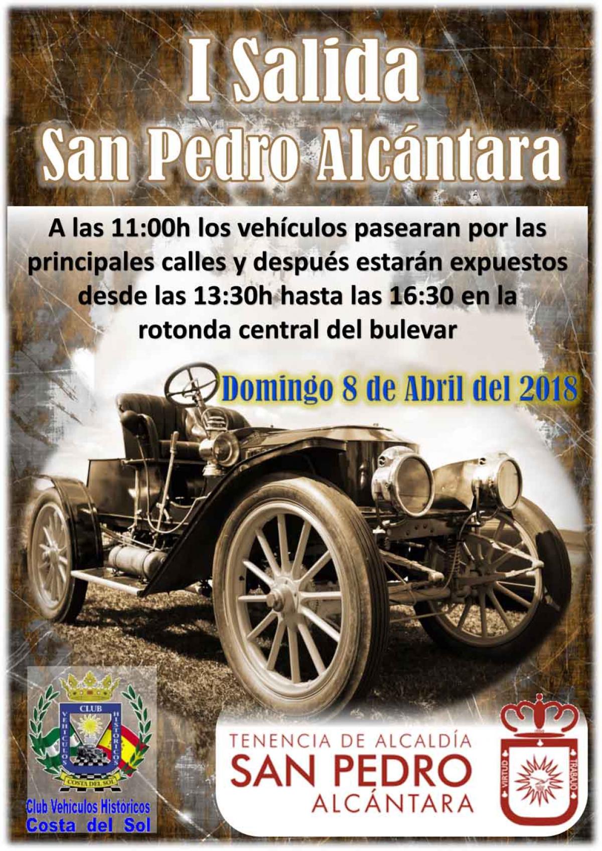 La 'I Salida San Pedro Alcántara' concentrará este domingo a una treintena de vehículos clásicos que saldrán de la rotonda central del Bulevar