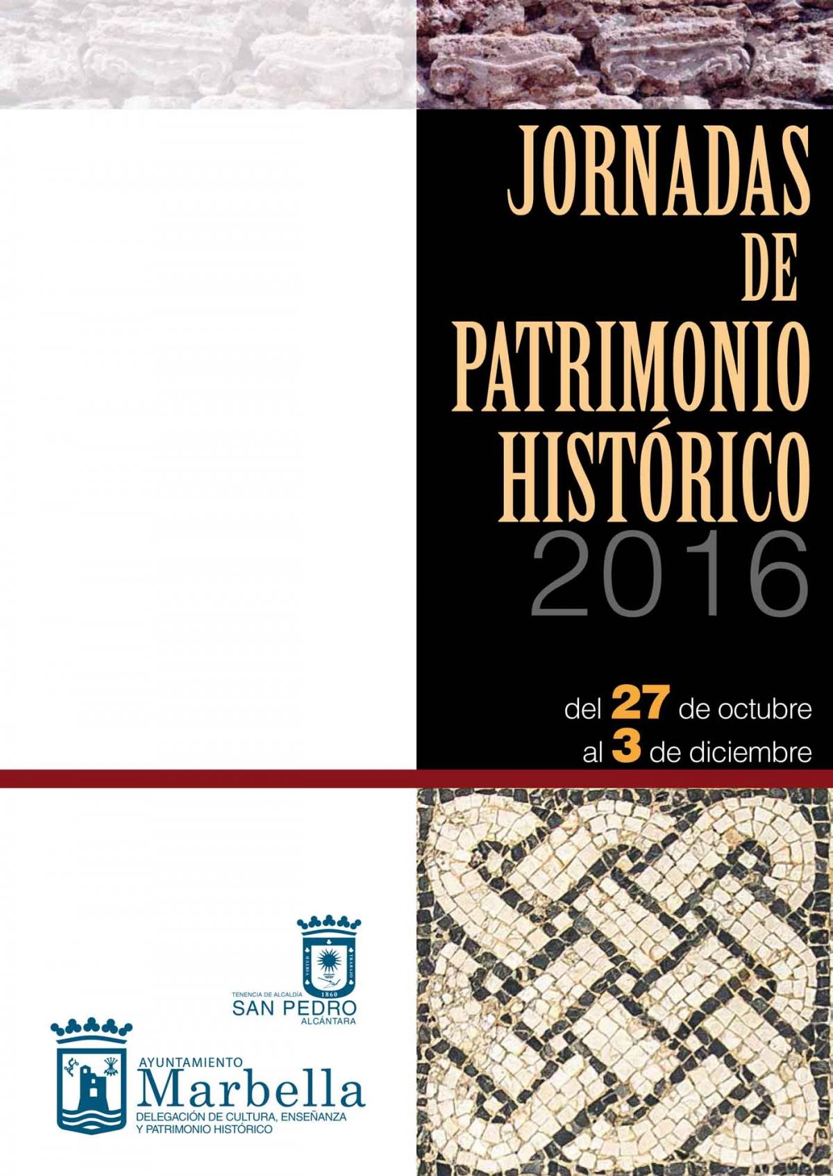 Resultado de imagen de jornadas patrimonio marbella 2016
