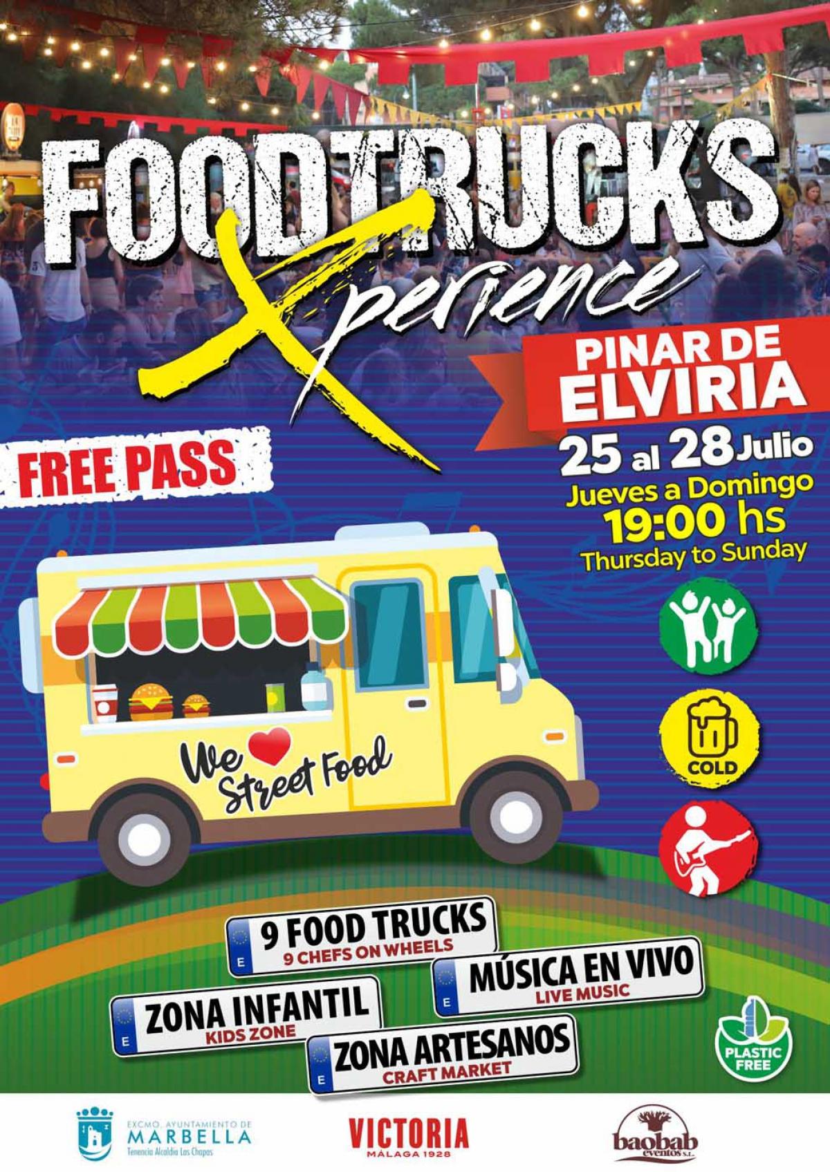 Las Chapas acoge del 25 al 28 de julio el evento gastronómico 'Foodtrucks Xperience Elviria'