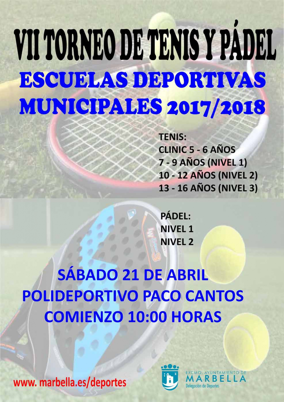 Este sábado se celebra en el Polideportivo Paco Cantos el VII Torneo de Tenis y Pádel de las Escuelas Deportivas Municipales
