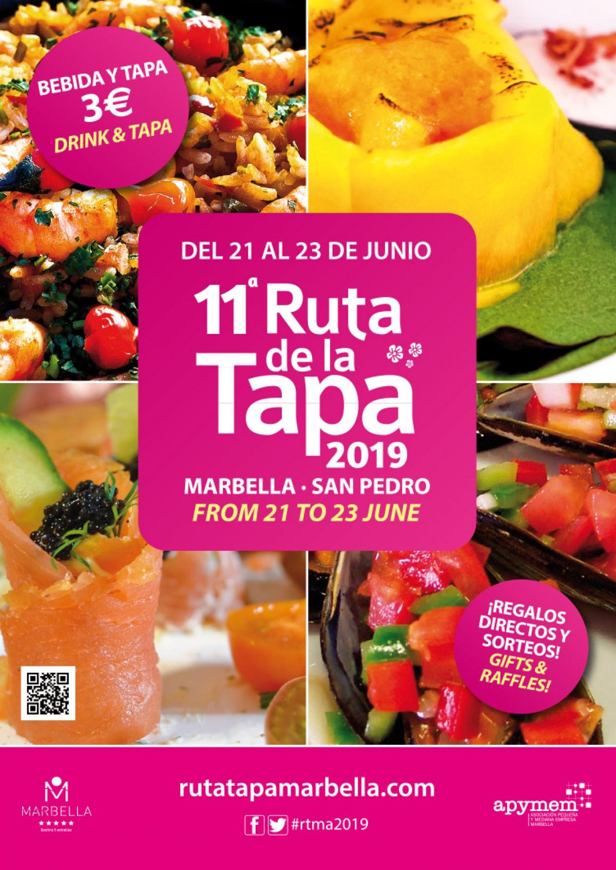 Más de 50 establecimientos participarán en la undécima edición de la Ruta de la Tapa Marbella-San Pedro 2019, que se celebrará del 21 al 23 de junio