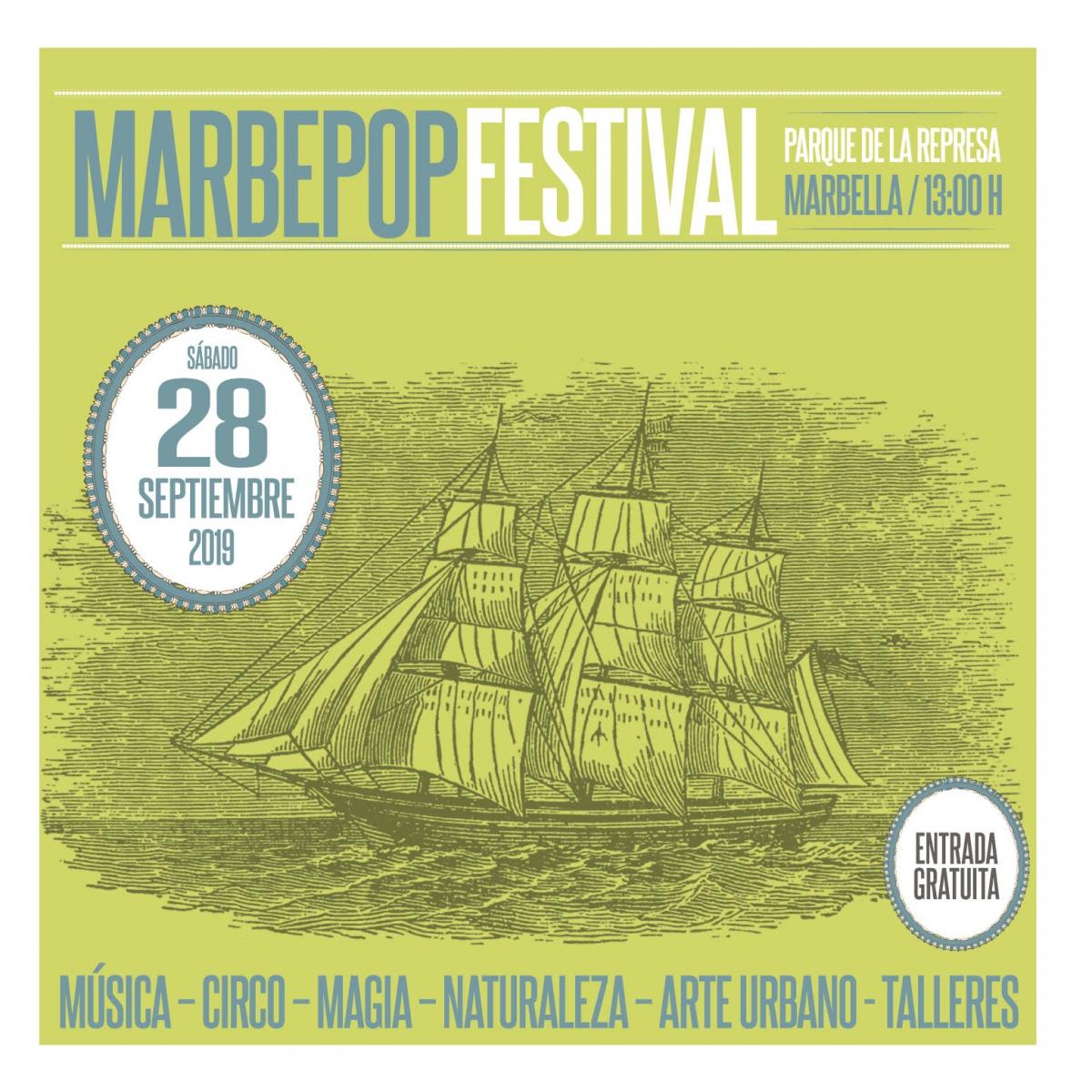 El Parque Arroyo de La Represa acogerá el 28 de septiembre una nueva edición del festival 'Marbepop2019'