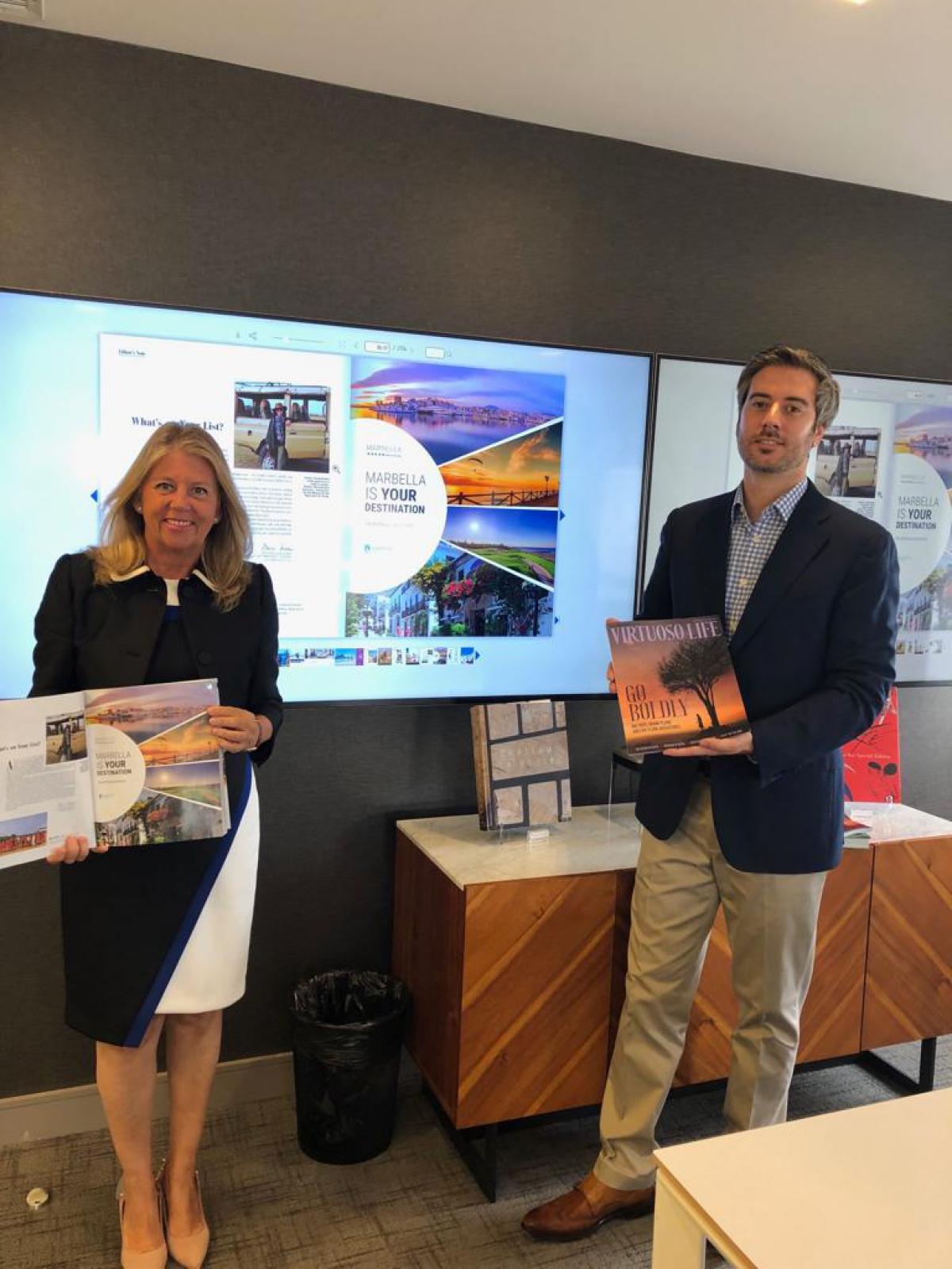 Marbella intensifica su promoción en Estados Unidos y Canadá de la mano de la principal plataforma de agencias de viajes de lujo de Norteamérica