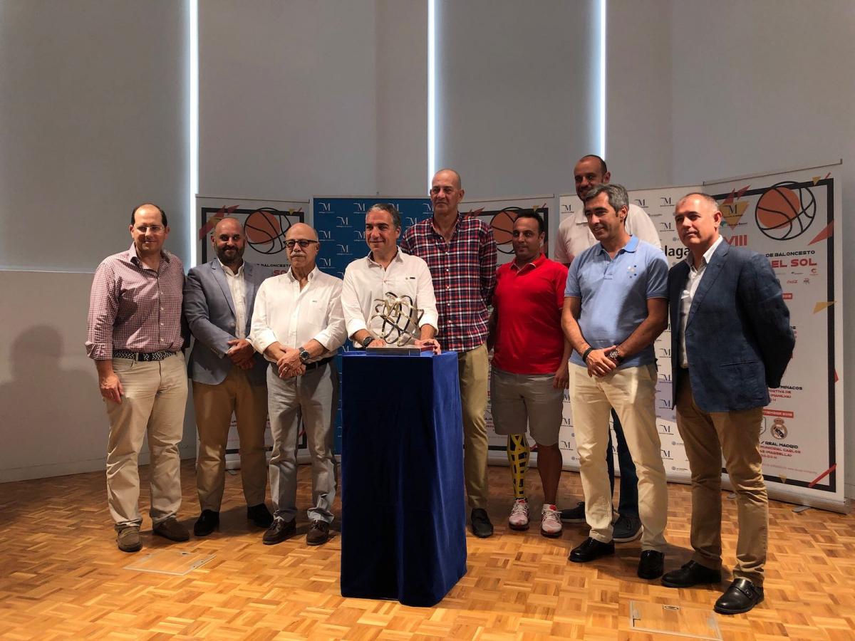 Mérida asiste a la presentación del VIII Torneo Internacional Costa del Sol que medirá al Unicaja, Real Madrid y Olympiacos en Marbella, Benalmádena y Manilva