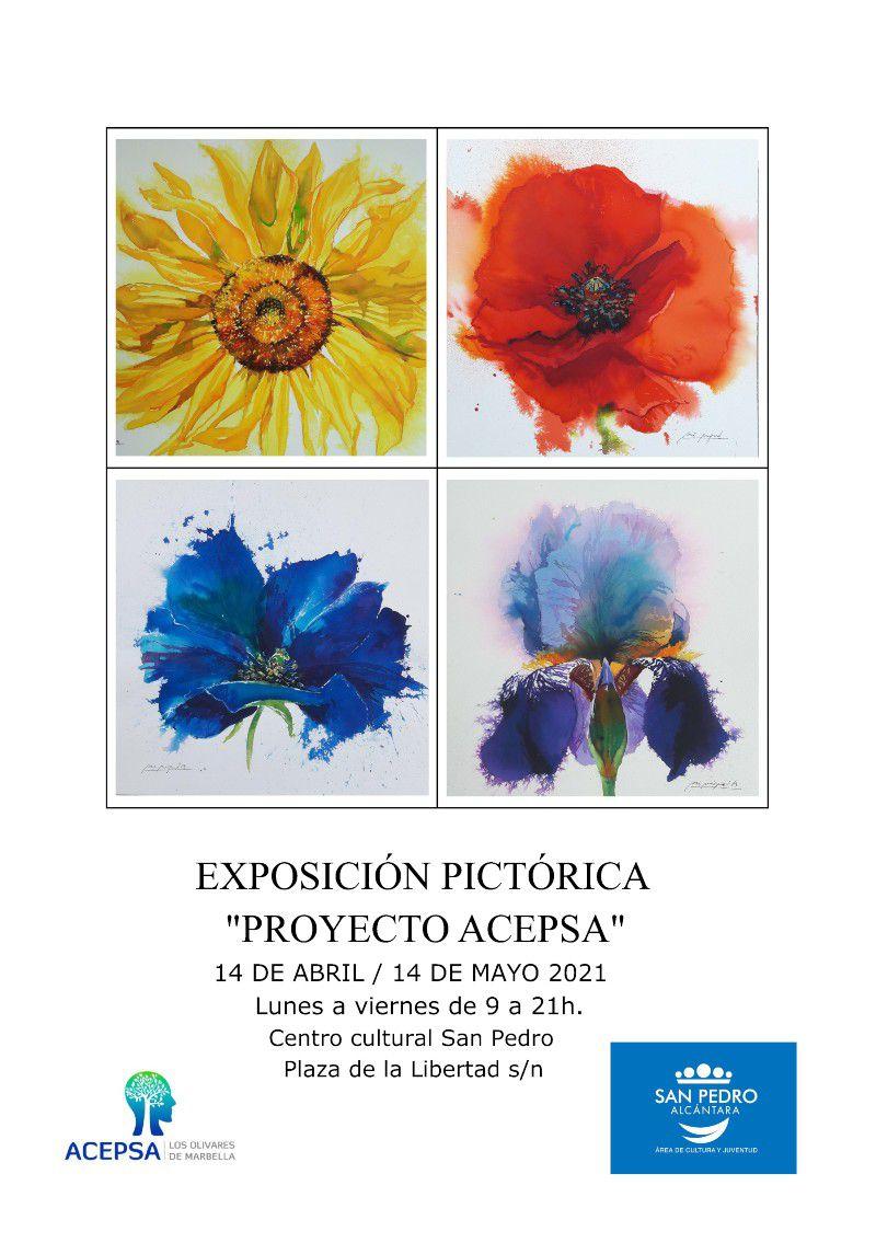"""[23 Abr 2021] EXPOSICIÓN PICTÓRICA """"PROYECTO ACEPSA"""" (Exposiciones, Cultura y Enseñanza, Tenencia Alcaldía San Pedro)"""