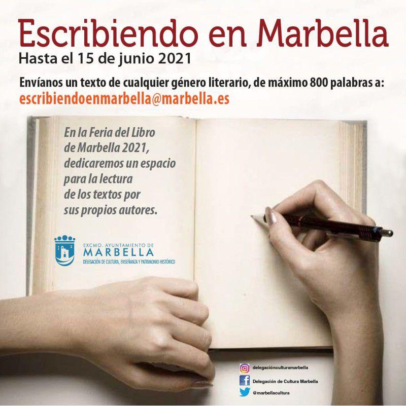 [07 May 2021] FERIA DEL LIBRO: ESCRIBIENDO EN MARBELLA (Ferias y Congresos, Cultura y Enseñanza)