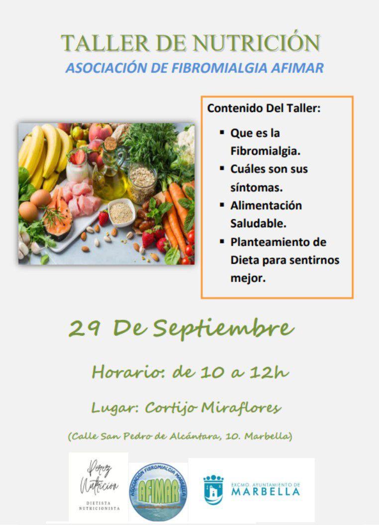 [29 Sep 2021] - TALLER DE NUTRICIÓN (Cursos y Talleres, Derechos Sociales, Asociaciones) Centro Cultural
