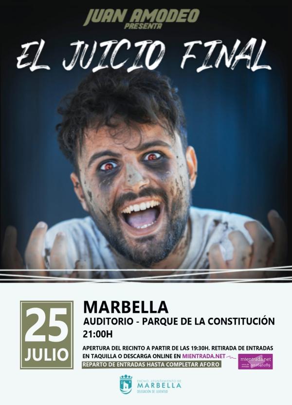 El conocido humorista e influencer Juan Amodeo estrenará por primera vez en Marbella el espectáculo 'El Juicio Final'