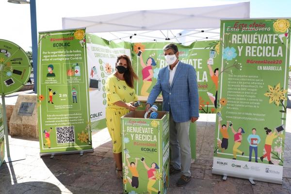 Marbella se suma por segundo año a la campaña de la Fundación Ecolec para concienciar sobre la importancia del reciclaje de aparatos electrónicos