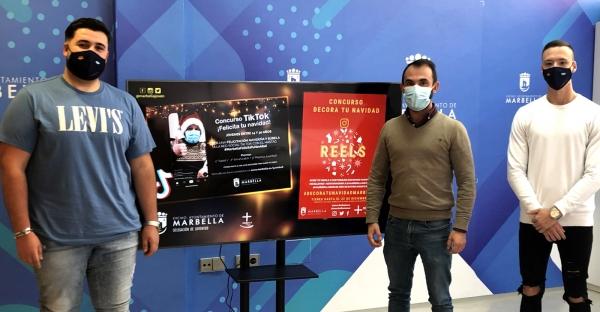 La delegación de Juventud y la Asociación Juvenil 'Marbella es más' ponen en marcha los concursos 'Reels Decora tu Navidad' y 'TikTok Felicita tu Navidad'