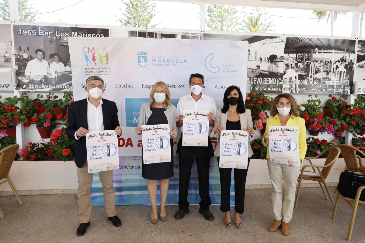 El Ayuntamiento impulsa la campaña 'Plato Solidario' a favor de Cáritas