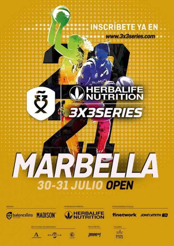 El torneo de baloncesto Herbalife 3x3 Series 2021 llega a Marbella los días 30 y 31 de julio