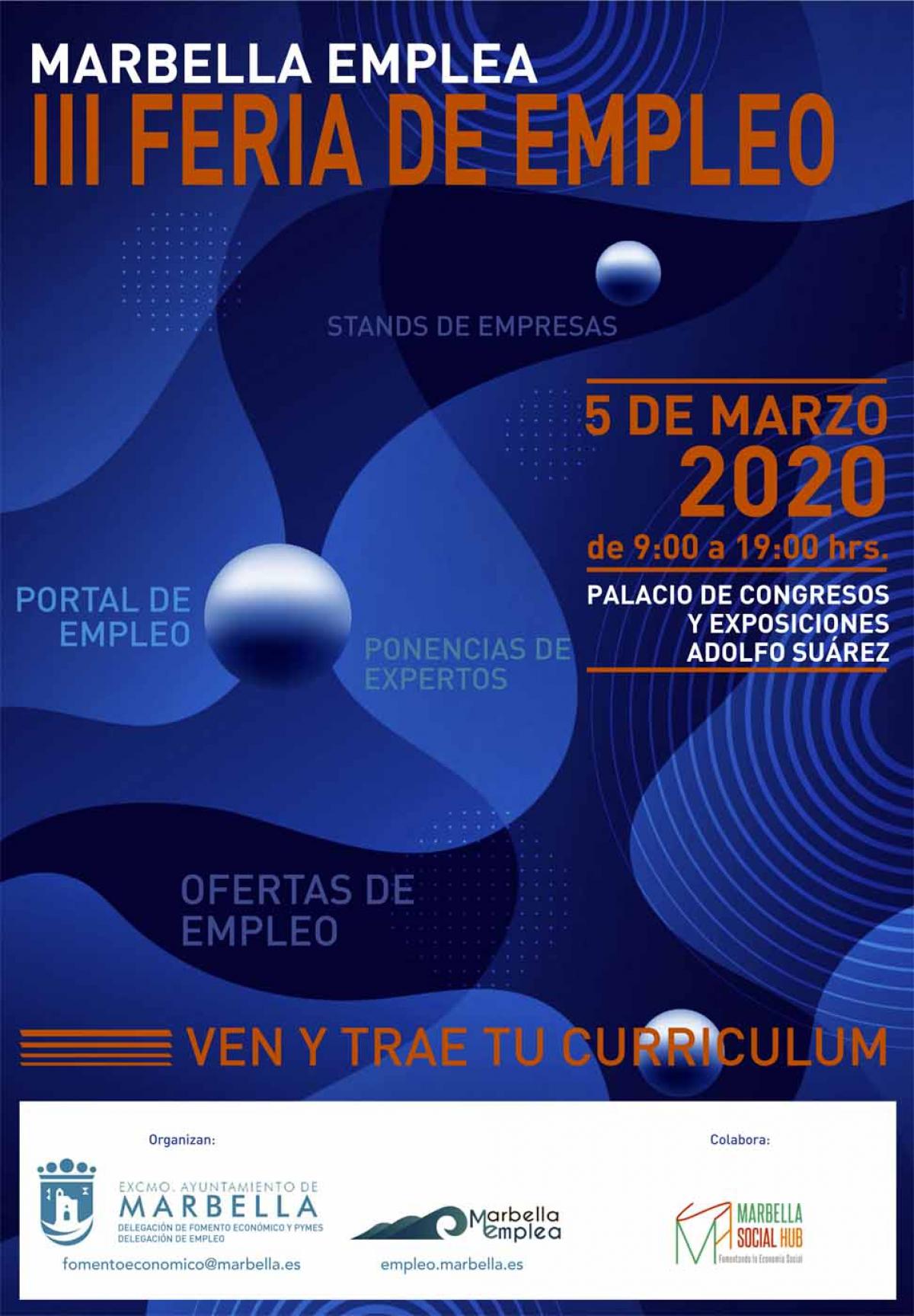 La tercera edición de la Feria de Empleo se celebrará el 5 de marzo en el Palacio de Ferias y Congresos Adolfo Suárez y reunirá a un centenar de empresas