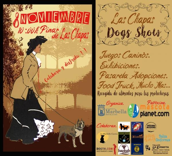 El domingo 8 de noviembre se celebrará el evento canino 'Las Chapas Dog Show' con exhibiciones, juegos y pasarela de adopciones (evento cancelado)