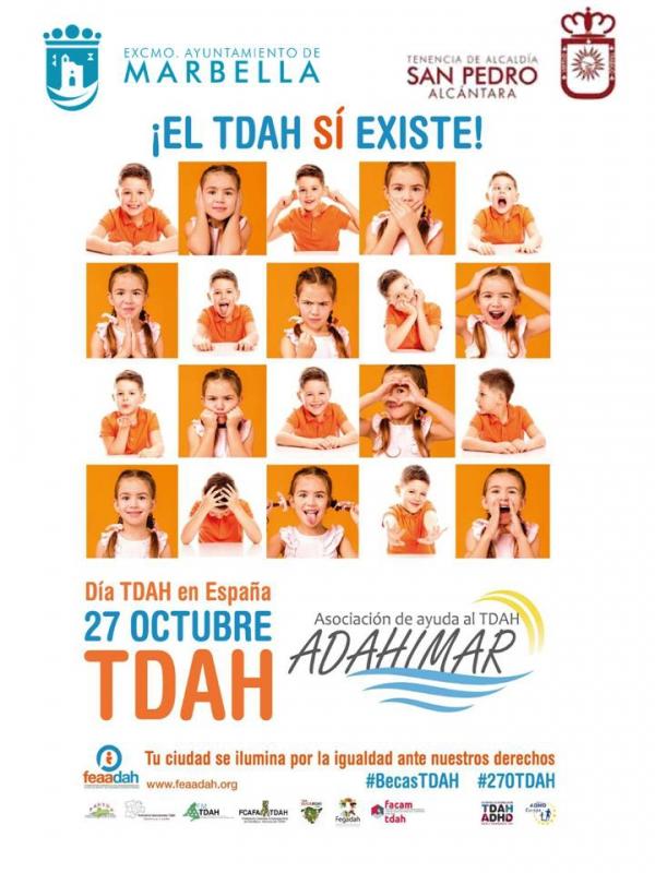 Marbella y San Pedro Alcántara se iluminarán de color naranja para conmemorar el Día Nacional del TDAH