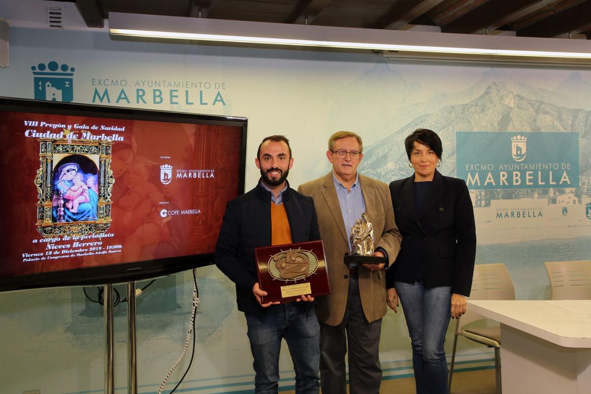 La Gala de Navidad 'Ciudad de Marbella' tendrá lugar el día 13 en el Palacio de Congresos Adolfo Suárez y contará con la periodista Nieves Herrero como pregonera