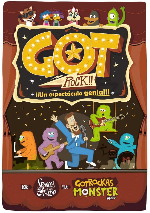 El CAE La Alcoholera acogerá este domingo el espectáculo familiar 'Got Rock', a cargo de Francis Zafrilla, dentro del I Festival de Títeres y Marionetas