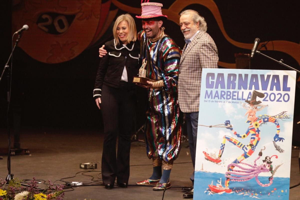 Arranca el Carnaval de Marbella 2020 con el pregón del cantante Fran Terrén