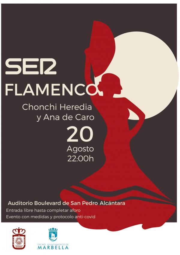 El Auditorio del Bulevar de San Pedro Alcántara acoge este viernes el evento 'SER Flamenco', con las actuaciones de Chonchi Heredia y Ana de Caro