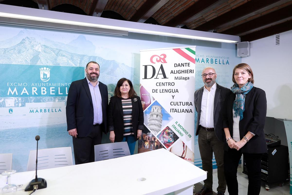 El Ayuntamiento inicia una colaboración con el Instituto Dante Alighieri para la promoción de la lengua y la cultura italianas en Marbella