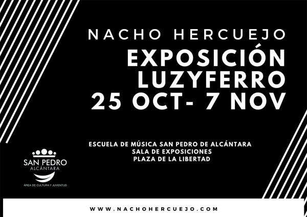 El Centro Cultural San Pedro acoge hoy la inauguración de la exposición 'Luzyferro', de Nacho Hercuejo