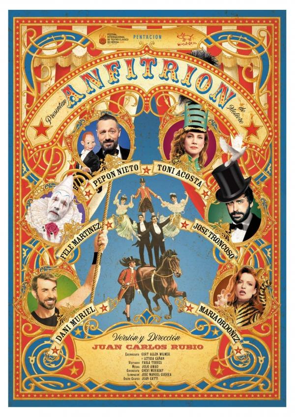 El Teatro Ciudad de Marbella albergará el sábado 25 de septiembre 'Anfitrión', una versión adaptada de la obra de Moliére con Pepón Nieto, Toni Acosta y Fele Martínez como protagonistas
