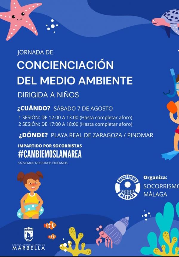 Una jornada concienciará este sábado a menores sobre el cuidado y respeto de los mares y océanos en la playa Real de Zaragoza-Pinomar