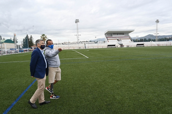 El Ayuntamiento trabaja en la remodelación integral del Estadio de Fútbol Antonio Naranjo de San Pedro Alcántara