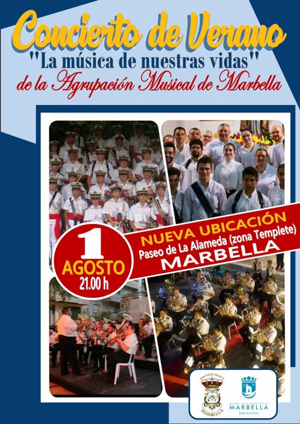 La Agrupación Musical Marbella ofrecerá el día 1 de agosto su tradicional concierto de verano bajo el título 'La música de nuestras vidas'
